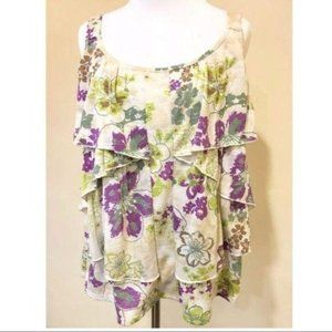 French Laundry Petite Top Size PL Floral